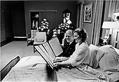 United States President Gerald R. Ford and first lady Betty Ford look over a petition of &quot;support and best wishes&quot; signed by all 100 members of the United States Senate in Mrs. Ford's hospital room at the Bethesda National Naval Medical Center in Bethesda, Maryland on October 3, 1974.  Mrs. Ford is at Bethesda recovering from cancer surgery.<br /> Mandatory Credit: David Hume Kennerly / White House via CNP