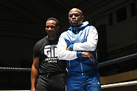 Floyd Mayweather looks on during an Open Workout at York Hall on 17th May 2017
