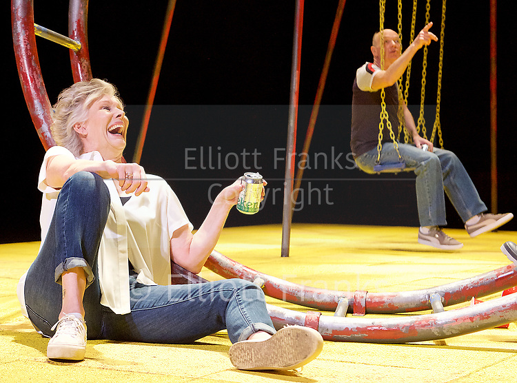 Seventeen <br /> by Matthew Whittet <br /> at The Lyric Hammersmith Theatre, London, Great Britain <br /> Press photocall <br /> 10th March 2017 <br /> <br /> Diana Hardcastle as Jess <br /> <br /> <br /> Roger Sloman as Tom <br /> <br /> <br /> <br /> <br /> Photograph by Elliott Franks <br /> Image licensed to Elliott Franks Photography Services