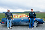 Rocketeers at an amateur rocket festival..Manchester, Tennessee.