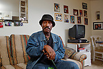 Washington, D.C. resident John Butler, 60, retired as a civiilan naval architect for the U.S. Coast Guard and relies heavily on the disability check he receives each month. Butler and others receiving Social Security checks for retirement and disability will see an increase of 1.7% starting in January, the Labor Department said. The rise is based on data from the consumer-cost index released Tuesday, October 16, 2012. Other Americans, including federal retirees who receive pension checks from the government, will also likely see a similar cost-of-living increase. CREDIT: Lexey Swall for The Wall Street Journal
