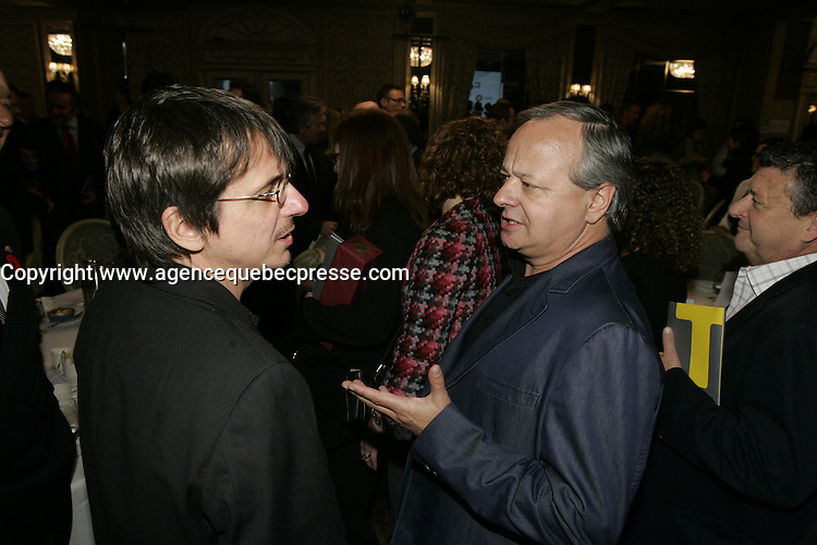 2011 File Photo - Philippe Falardeau (L), Christian Larouche (R)