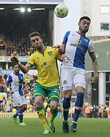 Blackburn Rovers' Derrick Williams battles with Norwich City's Ivo Pinto<br /> <br /> Photographer David Shipman/CameraSport<br /> <br /> The EFL Sky Bet Championship - Norwich City v Blackburn Rovers - Saturday 11th March 2017 - Carrow Road - Norwich<br /> <br /> World Copyright &copy; 2017 CameraSport. All rights reserved. 43 Linden Ave. Countesthorpe. Leicester. England. LE8 5PG - Tel: +44 (0) 116 277 4147 - admin@camerasport.com - www.camerasport.com