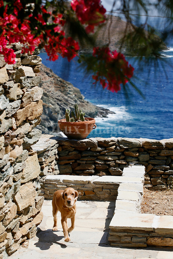 """Acclaimed architect Vartholomeos Martinos lovingly restored and reworked a 200-year-old stone barn on the """"off the beaten path"""" island of Kithnos.  The result is a true to tradition yet comfortable space with charming details and respect for the environment."""