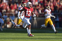 Stanford, CA - September 17, 2016: Taijuan Thomas during the Stanford vs USC football game at Stanford Stadium. The Cardinal defeated the Trojans 27-10.