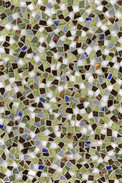 Name: Lazuli Bunting Cosmos<br /> Style: Metamorphosis<br /> Product Number: CB0610COSMOS (12&quot;x18&quot;)<br /> Description: Lazuli Bunting Cosmos , a hand cut natural stone mosaic, in Emperador Dark, Blue Macauba, Celeste, Chartreuse, &amp; Lapis polished.