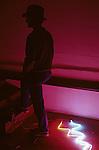 Neon artist in studio