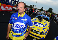 Sept. 28, 2012; Madison, IL, USA: NHRA pro mod driver Mike Janis during qualifying for the Midwest Nationals at Gateway Motorsports Park. Mandatory Credit: Mark J. Rebilas-