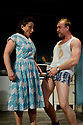 "London, UK. 13/06/2011.  ""Realism"" by Anthony Neilson has it's UK premiere at the Soho Theatre, London. Picture shows Joanna Holden (as Mother) and Tim Treloar (as Tim). Photo credit should read Jane Hobson"