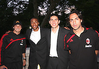Jordan Graye and Andrew Quinn of DC United with Pato and Alessandro Nesta of AC Milan at a reception for AC Milan at DAR Constitution Hall in Washington DC on May 24 2010.