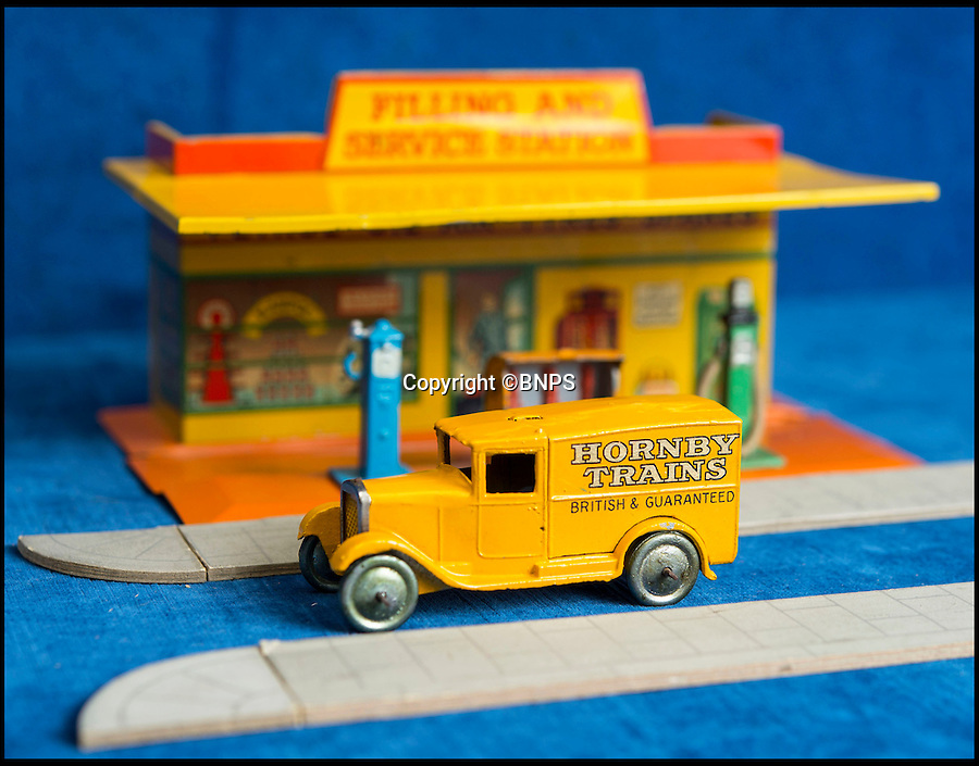 BNPS.co.uk (01202 558833)<br /> Pic: PhilYeomans/BNPS<br /> <br /> Hornby Trains.<br /> <br /> Dinky dynamite...<br /> <br /> The first two sets of Dinky Toys ever made have sold for almost &pound;50,000 in a landmark auction.<br /> <br /> In a sale the likes of which has never been seen before, the 12 ultra-rare Dinky Toys from 1933 were snapped up by a private collector for almost twice their estimate.<br /> <br /> Experts at Special Auction Services in Newbury, Berks, had tipped the two boxes of six delivery vans to fetch &pound;15,000 each but after fierce bidding they sold for &pound;20,000 and &pound;19,000 respectively.<br /> <br /> With sale room fees and VAT added the total was &pound;46,000.