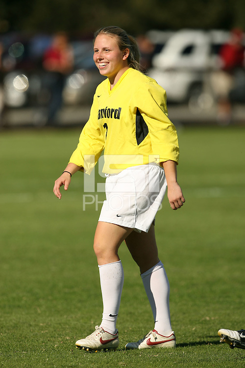 30 October 2005: Elizabeth Barnard during Stanford's 0-0 tie to #4 ranked UCLA at Maloney Field in Stanford, CA.