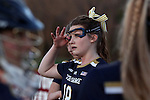23 February 2017: Notre Dame's Caroline Doyle. The Elon University Phoenix hosted the University of Notre Dame Fighting Irish at Rudd Field in Elon, North Carolina in a 2017 Division I College Women's Lacrosse match. Notre Dame won the game 16-7.