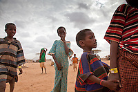 Somali refugee children in Dadaab refugee camp in northern Kenya.