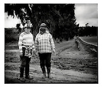 Strawberry pickers from the Mexican state of Michoacan, Camerillo, California, USA.