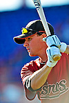 9 March 2009: Houston Astros' infielder Drew Sutton prepares to take batting practice prior to a Spring Training game against the Washington Nationals at Space Coast Stadium in Viera, Florida. The Nationals defeated the Astros 8-6 in extra innings of the Grapefruit League matchup. Mandatory Photo Credit: Ed Wolfstein Photo