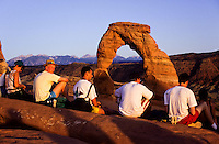 Delicate Arch in Arches National Monument, Utah The Worlds most famous natural bridge in yellow sandstone