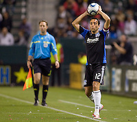 San Jose Earthquakes defender Ramiro Corrales (12) with a trhow in. CD Chivas USA defeated the San Jose Earthquakes 3-2 at Home Depot Center stadium in Carson, California on Saturday April 24, 2010.  .