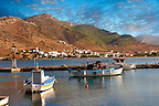 The harbour of Ormos, Ios, Cyclades Islands, Greece