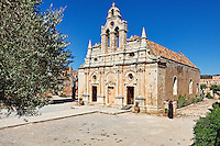 The Arkadi Monastery was built in 1587 on the island of Crete, Greece