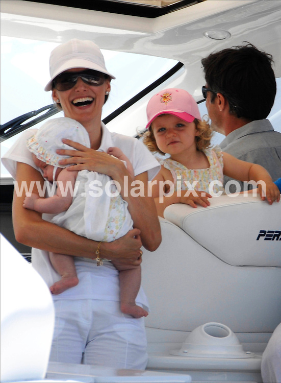 **ALL ROUND PICTURES FROM SOLARPIX.COM**.SYNDICATION RIGHTS FOR UK, CANADA, USA, SOUTH AFRICA, SOUTH AMERICA, DUBAI, AUSTRALIA, NEW ZEALAND, GREECE, ASIA.The Spanish  Queen Sofía and Princess Letizia with Infant Leonor and Sofía on a motor launch in Palma de Mallorca in the balearic Islands while Prince Felipe and King Juan Carlos, participated in King's Cup yaght race Held on the: 31-07_07..This pic:PRINCESS LETIZIA,BABY LEONOR,SOFIA.JOB REF: 4416_ SPA     DATE:31_07_07.**MUST CREDIT SOLARPIX.COM OR DOUBLE FEE WILL BE CHARGED* *UNDER NO CIRCUMSTANCES IS THIS IMAGE TO BE REPRODUCED FOR ANY ONLINE EDITION WITHOUT PRIOR PERMISSION*
