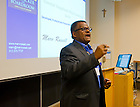 June 2, 2012; Reunion 2012: Marv Russell '77 gives a presentation...Photo by Matt Cashore/University of Notre Dame