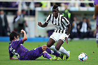 FLORENCE, Italy: October 20, 2013: AC Fiorentina beats FC Juventus 4-2 during the Serie A match played in the Artemio Franchi Stadium.