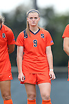 17 October 2013: Syracuse's Jackie Firenze. The University of North Carolina Tar Heels hosted the Syracuse University Orangemen at Fetzer Field in Chapel Hill, NC in a 2013 NCAA Division I Women's Soccer match. UNC won the game 1-0.