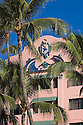 The Royal Hawaiian Hotel, a historic landmark on Waikiki Beach; Honolulu, Oahu, Hawaii.