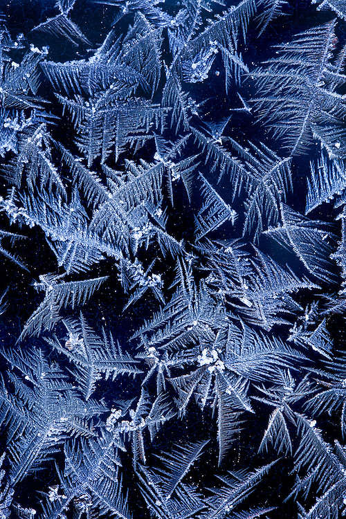 Abstract crystal-like ice formations