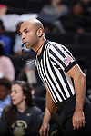 25 February 2016: Referee Jules Gallien. The Wake Forest University Demon Deacons hosted the Virginia Tech Hokies at Lawrence Joel Veterans Memorial Coliseum in Winston-Salem, North Carolina in a 2015-16 NCAA Division I Women's Basketball game. Virginia Tech won the game 54-48.