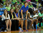 Apr 7, 2013; Muffet McGraw directs her team during the semifinals against Connecticut in the 2013 NCAA women's basketball Final Four at the New Orleans Arena. Connecticut defeated Notre Dame 83 to 65. Photo by Barbara Johnston/ University of Notre Dame