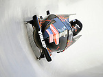 15 December 2007: USA 2 pilot John Napier with brakeman Steven Langton exit a turn during their first run at the FIBT World Cup Bobsled Competition at the Olympic Sports Complex on Mount Van Hoevenberg, at Lake Placid, New York, USA. ..Mandatory Photo Credit: Ed Wolfstein Photo