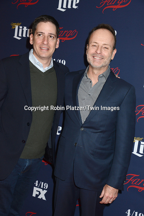 Eric Schrier and John Landgraf attend FX's 2017 All-Star Upfront on  April 6, 2017 at SVA Theater in New York, New York, USA. <br /> <br /> photo by Robin Platzer/Twin Images<br />  <br /> phone number 212-935-0770