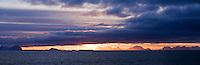 Sunrise over Vestfjord as viewed from Stamsund, Vestvagoy, Lofoten islands, Norway