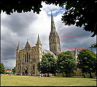 BNPS.co.uk (01202 558833)<br /> Pic: SalisburyCathedral/BNPS<br /> <br /> In-spire-ing View..<br /> <br /> A newly revealed gap in the floor of Salisbury Cathedral's spire has uncovered a vertigo inducing view down on to the ceiling of the famous old church's crossing 120 ft below.<br /> <br /> Taken through a hole in the wooden floor, the photos show the view 120ft down the square tower, from just below the base of the famous spire to the roof of the rest of the cathedral.<br /> <br /> The hole is used in conjunction with a trapdoor to allow staff to carry material into the building's famous spire - the tallest in England at 404ft from ground level - without having to climb the 332 steps of narrow winding spiral staircases.<br /> <br /> At the popular landmark in Salisbury, Wilts, people can pay to go on a Tower Tour, which takes them 225ft above ground level to the base of the spire. <br /> <br /> From there they can see up into the spire to look at its original medieval scaffolding, but these pictures show the view down - something even the paying tourists do not normally see.