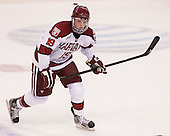 Jimmy Vesey (Harvard - 19) - The Boston College Eagles defeated the Harvard University Crimson 4-1 in the opening round of the 2013 Beanpot tournament on Monday, February 4, 2013, at TD Garden in Boston, Massachusetts.