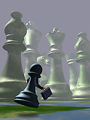 Pawn Running on Chess Board