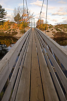 A foot bridge at the mouth of the Two Hearted River in Michigan's Upper Peninsula.