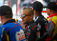 Sep 3, 2016; Clermont, IN, USA; NHRA top fuel driver J.R. Todd during qualifying for the US Nationals at Lucas Oil Raceway. Mandatory Credit: Mark J. Rebilas-USA TODAY Sports