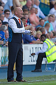 Ian Holloway, Manager, Blackpool FC passes instructions in his own inimitable style to his team - Millwall vs Blackpool - NPower Championship Football at the New Den, London - 18/08/12 - MANDATORY CREDIT: Ray Lawrence/TGSPHOTO - Self billing applies where appropriate - 0845 094 6026 - contact@tgsphoto.co.uk - NO UNPAID USE.