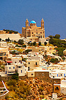 The Greek Orthodox Church of Anastasis built in 1870 on the top of Vrodado Hill, Ermoupolis, Syros [ ????? ] , Greek Cyclades Islands