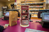 Gift cards on display on the counter of a Dunkin Donuts in New York on Tuesday, November 26, 2013.  (© Richard B. Levine)