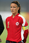 06 August 2008: Ane Stangeland Horpestad (NOR).  The women's Olympic team of Norway defeated the United States women's Olympic soccer team 2-0 at Qinhuangdao Olympic Center Stadium in Qinhuangdao, China in a Group G round-robin match in the Women's Olympic Football competition.