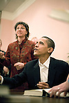 Sunday December 10th, 2006,  Portsmouth, New Hampshire&amp;#xA;Illinois Senator Barack Obama visited Portsmouth, New Hampshire today to sign his new book and speak a message of hope to his assembled supporters who helped him sell out two packed convention halls. &amp;#xA; He signed books and visited a local coffee shop on his way to Manchester for a New Hampshire Democratic Party fund raiser.<br />