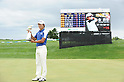 Kyung-Tae Kim (KOR),JULY 24, 2011 - Golf :Kim Kyung-Tae of South Korea celebrates with the trophy as the scoreboard shows the final score in the background after winning the Nagashima Shigeo Invitational Sega Sammy Cup Golf Tournament at The North Country Golf Club in Chitose, Hokkaido, Japan. (Photo by Hitoshi Mochizuki/AFLO)
