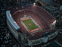 Aerial of Ohio Stadium, November 13, 2010. Ohio State was playing Penn State in a 3:30pm game. Dispatch photo by Karl Kuntz as seen from WBNS-10TV Chopper 10