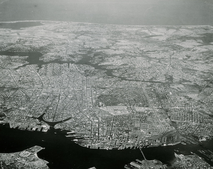 1958 January 17..Historical..Aerial view looking North of entire city to Ocean View..PHOTO CRAFTSMEN INC..NEG#.NRHA#..