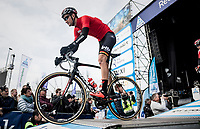 Tiesj Benoot (BEL/Lotto-Soudal) off the start presentation podium<br /> <br /> 60th E3 Harelbeke (1.UWT)<br /> 1day race: Harelbeke &rsaquo; Harelbeke - BEL (206km)