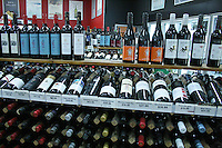 Australian wines are famous. Wine shop in Sydney.